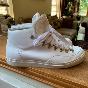 GIVENCHY Men's 9 white leather hi-top sneakers